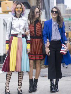 Pin for Later: Genießt das Wochenende mit den besten Street Style Shots der Fashion Week Street Style bei der New York Fashion Week, Februar 2016 Irene Kim und Aimee Song
