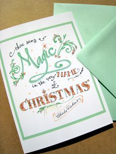 Hey, I found this really awesome Etsy listing at http://www.etsy.com/listing/164343591/magic-christmas-card-christmas-quote