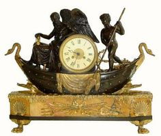 Antique French or France Shelf Figural Clock