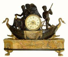 Antique French or France Shelf Figural Clock
