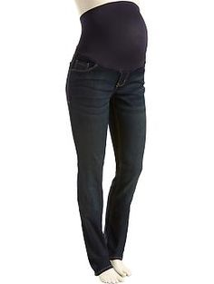 LOVE THESE!  Maternity Full-Panel Skinny Jeans - Dark Wash   Old Navy (Size 6 Petite) - $35