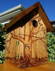 Birdhouse I made for friends Johnny & Rosalia.