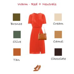 How to wear red for warm colouring