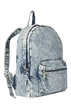 Mochila Primark - Acid Wash Denim Backpack Sort Your Computer Furniture, Stay Fitter Copyright 2006 Marvel Backpack, Jean Backpack, Backpack Bags, Leather Backpack, Denim Handbags, Leather Handbags, Backpack Pattern, Back Bag, Cute Backpacks