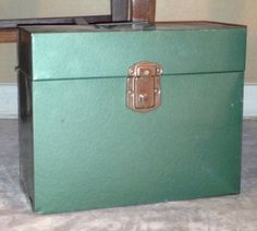 Industrial Metal File Box  for your by shabbycountrycottage, $12.00