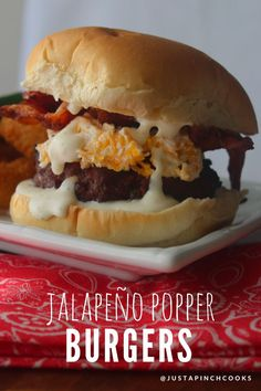Each bite has a bit of heat from the jalapeños, the ranch dressing and the cheese mixture cool things down. The bacon on top is the perfect touch. This truly is a jalapeño popper and a burger rolled into one!