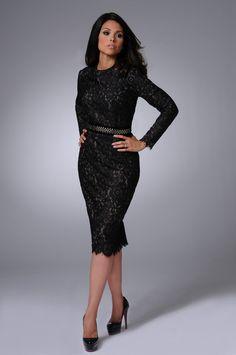 Grace Lace Dress black modest dress