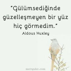 Gülümsediğinde güzelleşmeyen bir yüz hiç görmedim... Aldous Huxley