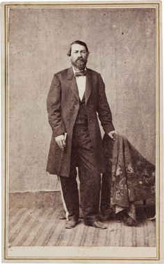 Juan Cortina Carte de Visite, circa 1860. This full standing portrait features the bearded bane of the Texas Rangers, particularly for Rip Ford, from 1859 through 1861