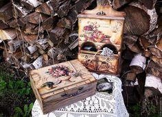 Купить Шкатулка для чая серия ПАСТЕЛЬ.. - бежевый, шкатулка декупаж, шкатулка ручной работы