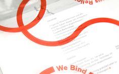 Print for Swiss binding specialists Bubu by graphic design studio Bob Design