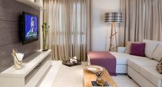 cortina para sala pequena de apartamento - Pesquisa Google