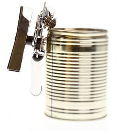 How To Open A Can Without A Can Opener- I have lots of can openers [key chain,purse,glove box,tool box-you get the idea] Survival Life, Survival Food, Outdoor Survival, Survival Prepping, Survival Skills, Survival Stuff, Provident Living, Emergency Preparation, Apocalypse Survival