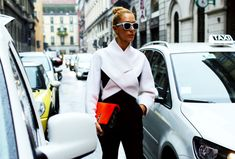 Street Style: Milan Fashion Week Spring 2015 – Vogue Balenciaga shirt and Proenza Schouler bag Photographed by Phil Oh