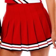 Red/Black/White Cheer Skirt disfraz porrista Skirt w/Braid Cheer Costumes, Jazz Costumes, Halloween Costumes, Cheerleading Uniforms, Cheer Uniforms, Carlson Young, Quinn Fabray, Cheerleader Costume, Cheer Outfits