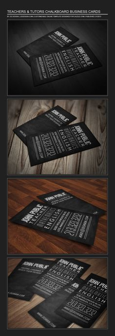 Teacher & Tutor Chalkboard Business Card by J32 Design