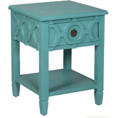 Aqua Ring End Table ($695) ❤ liked on Polyvore featuring home, furniture, tables, accent tables, side table, decor, mahogany furniture, mahogany end table, hardware furniture e hand carved furniture