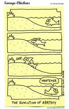 Apathy Cartoons / Savage Chickens - Cartoons on Sticky Notes by Doug Savage