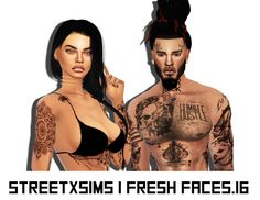 Sims 4 CC's - The Best: Tattoos for Females and Joggers for Males by Stree...