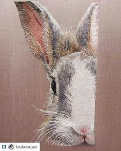 Stitchgasm - Jane Francis' Silk Shaded Rabbit - Mr X Stitch