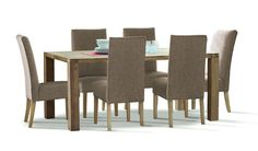 The Nevada 7 piece dining suite is featured in beautiful weathered Acacia and complimented by quality fabric chairs.