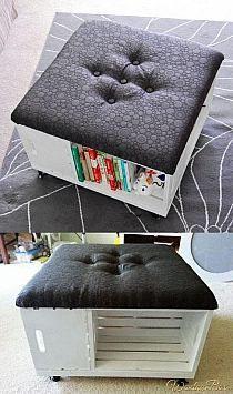 apple box shelf/chair