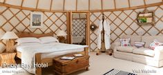 Glamping.com - Priory Bay Hotel - glamping yurts in the UK