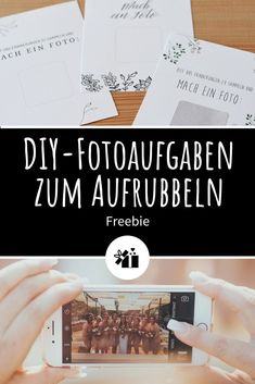 Wedding Idea: DIY Photo Teaser - Photo tasks to print: So comes on the It will keep you in the mood and you& gather - Diy Photo, Diy Pinterest, Destination Wedding, Wedding Planning, Marriage Reception, Wedding Reception, Budget Wedding, Rustic Wedding Decorations, Decor Wedding