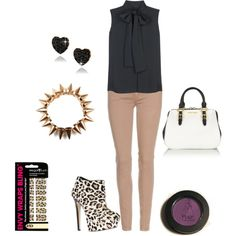 """""""edgy outfit"""" by prudence-sarah on Polyvore"""