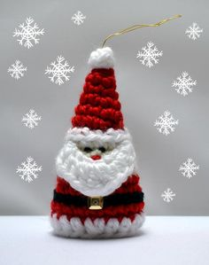 (4) Name: 'Crocheting : Crochet Santa Christmas Ornament Pattern from Craftsy