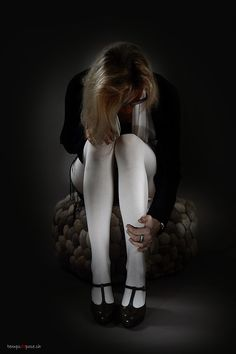 Portrait d'une femme en collant