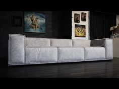 How to make a sofa. Современный диван своими руками. Time lapse - YouTube