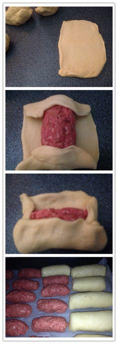 worstenbroodjes maken