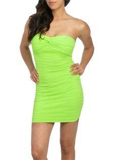 Pleated Twist Tube Dress from ArdenB.com
