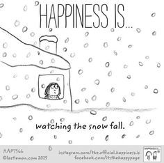Happiness is... watching the snow fall.
