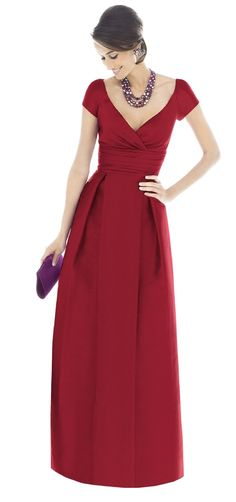 Style D501 - Dupioni Alfred Sung Bridesmaid Dress   Weddington Way  For Rachel's Debutante Ball