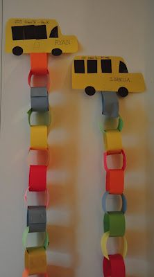 Bus Chain. Can use to countdown first month of school instead of countdown to school starting.