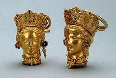 Skythian gold earrings.