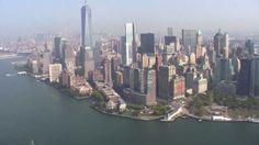 Helicopter Ground Zero HD - Statue of Liberty Brooklyn Bridge Skyline Ma...