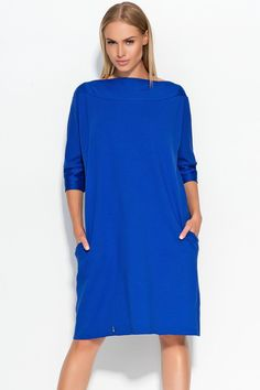 Sukienka Makadamia M317 - chaber Stylowa sukienka damska typu oversize: ...  https://www.mega-ciuchy.pl/sukienka_makadamia_m317_chaber