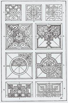 "From, ""A Handbook of Ornament"". 1898 by Franz Sales Meyer. Art Nouveau, Art Deco, Tangle Patterns, Ornaments Design, Architectural Elements, Islamic Art, Doodle Art, Quilting Designs, Design Elements"