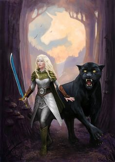 f Wood Elf Ranger lvl Med Armor Cloak Sword Black Panther Druid Conifer Forest community trail Ivanova by Character Creation, Character Concept, Character Art, Character Portraits, Character Design, Fantasy Rpg, Fantasy Girl, Cute Characters, Fantasy Characters