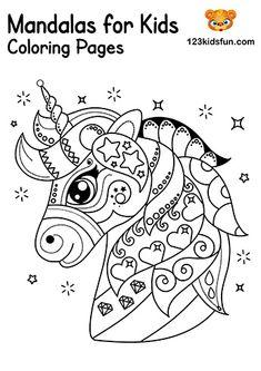 De 44 bedste billeder fra Unicorn Coloring Pages ...