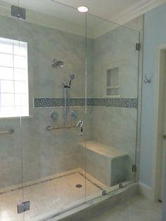 Shower Bench Seat Niche Behind Bench Final Bathroom