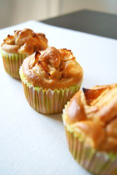 Apple Cinnamon Muffins with Maple Syrup - Lilie Bakery - Recipes & Food Photography - apple-cinnamon muffins with maple syrup - Bakery Recipes, Dessert Recipes, Apple Desserts, Apple Recipes, Cupcake Recipes, Pastry Cook, Healthy Cupcakes, Apple Cinnamon Muffins, Hazelnut Cake