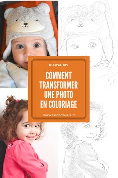 Comment transformer une photo en coloriage – Rainbows etc Transformers, Photos, Crochet Hats, Diy, Blog, Knitting Hats, Pictures, Bricolage, Do It Yourself