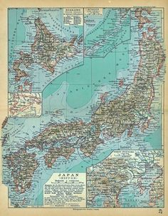 1928 map of Japan
