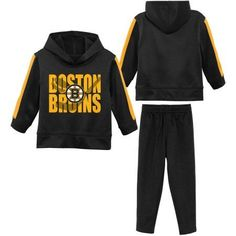 b0a4dfed7 NHL Boston Bruins Toddler Fleece Hoodie and Pant Cold Set