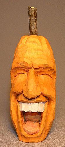 Tall Pumpkin Laughing