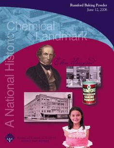 Development of Baking Powder - National Historic Chemical Landmark - American Chemical Society  Rumford Baking Powder commemorative booklet